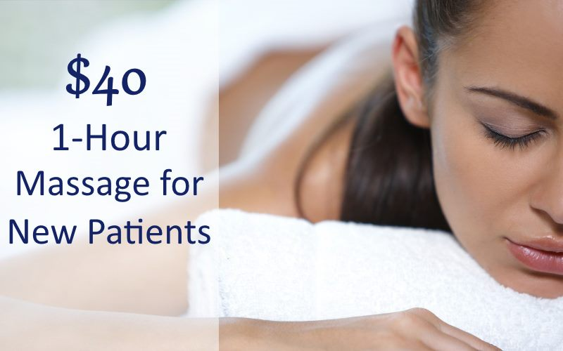 One hour massage offer